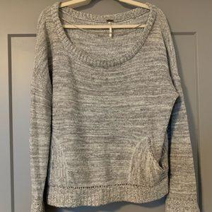 Grey Free People Sweater - Large